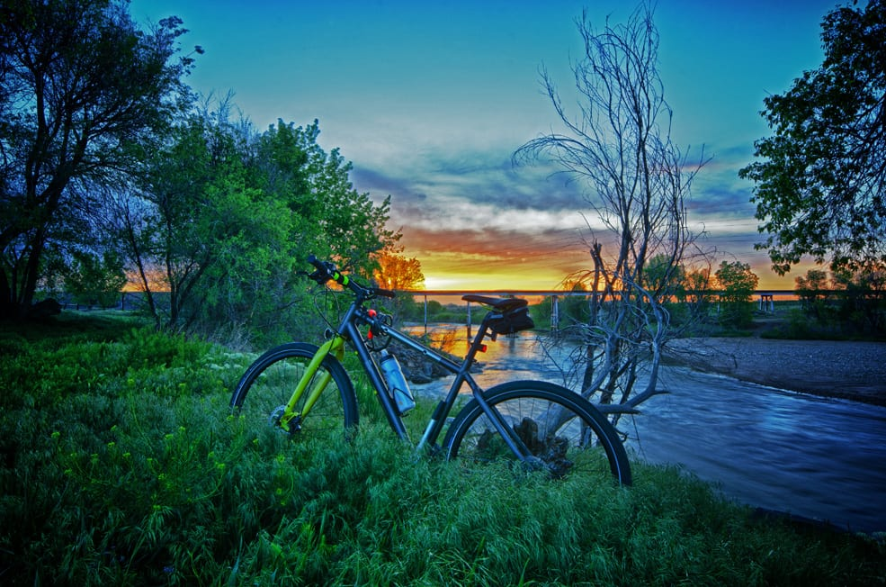 Sunrise South Platte River Bike Trail Denver