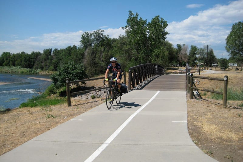 Biking South Platte River Trail Denver