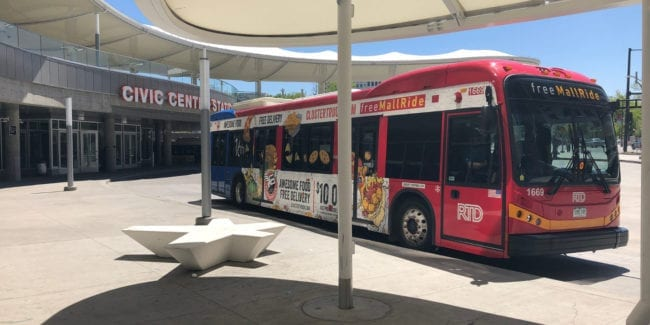 16th Street Free Mall Ride Bus Denver