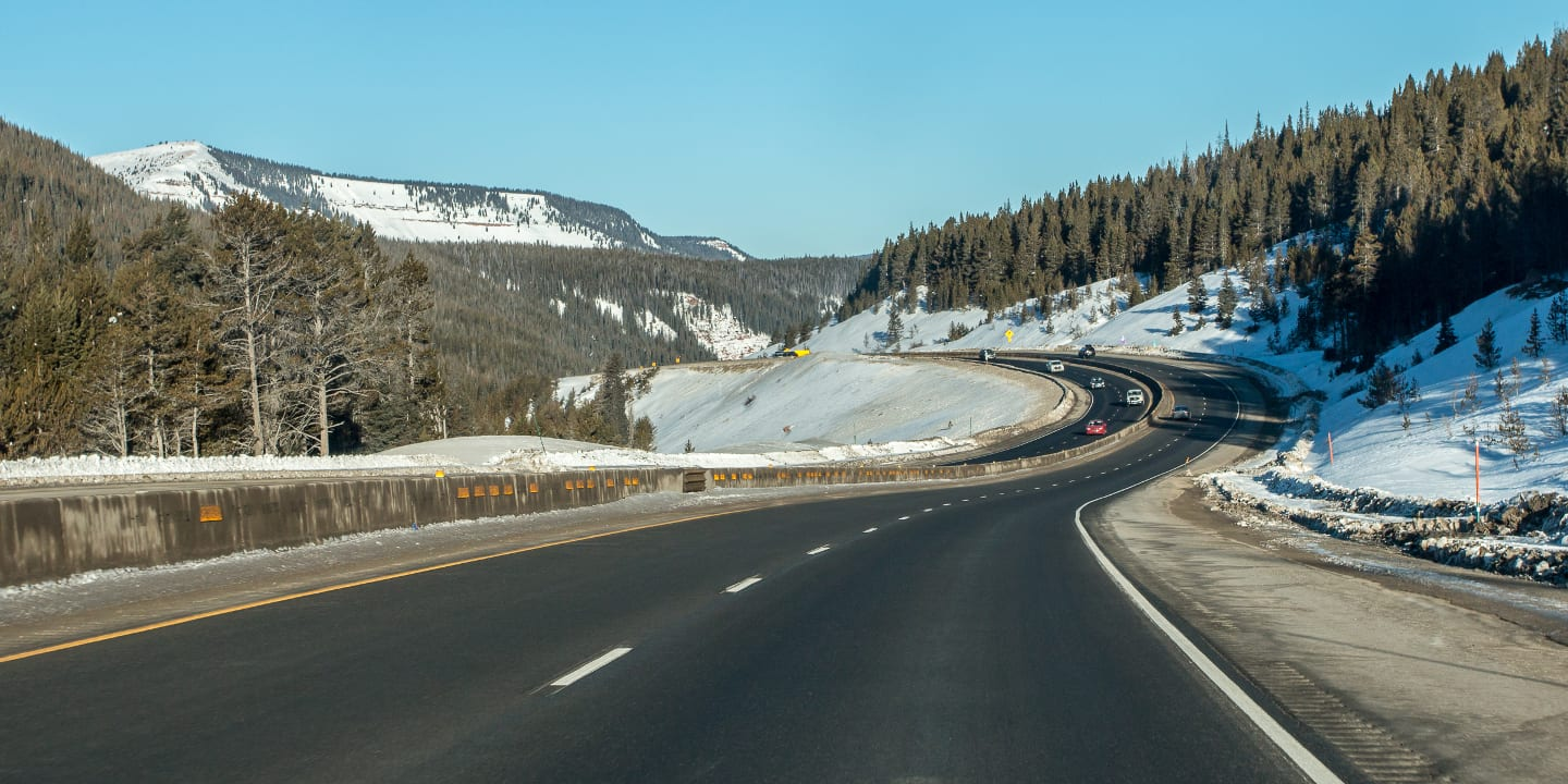 Colorado Highway Driving Rocky Mountains