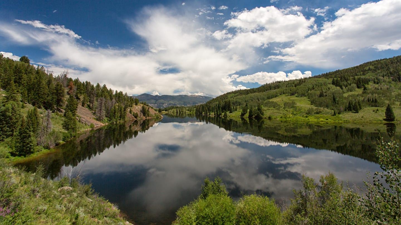 Hiking Lower Cataract Lake Summit County Colorado
