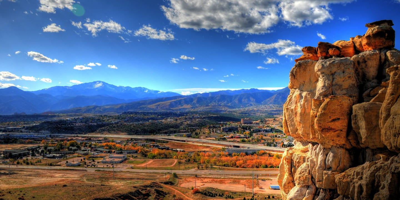 Colorado Springs Mountain Aerial View