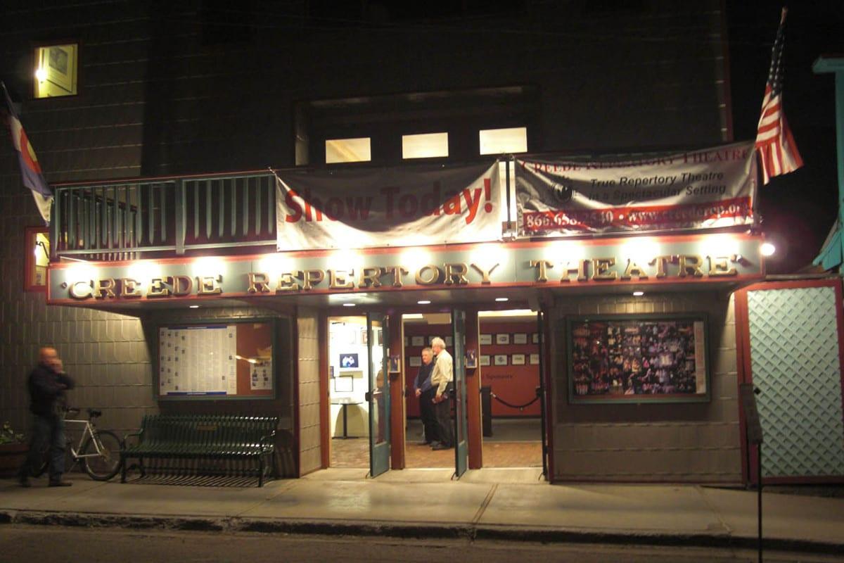 Creede Repertory Theatre Night Entrance