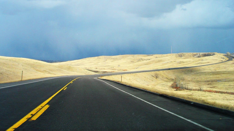 Driving Broomfield Highway SNow Awaits
