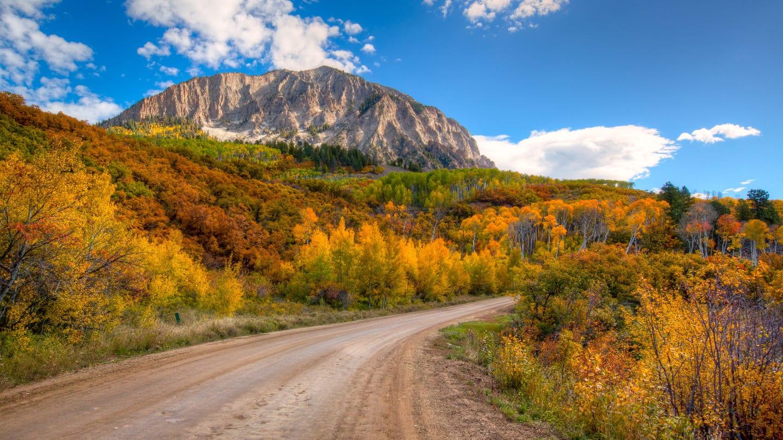 Driving Kebler Pass Autumn Crested Butte