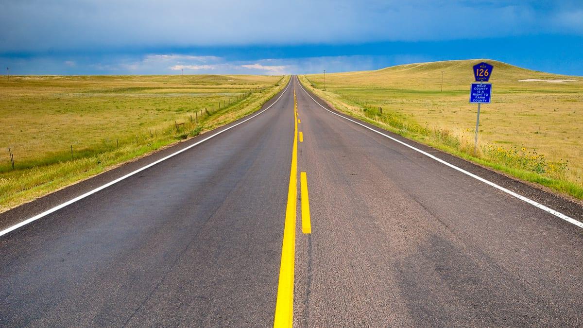 Colorado County Road 126 Highway Driving