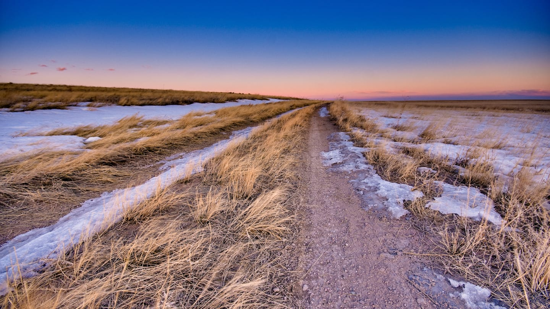 Driving Pawnee National Grassland Sunset Twilight
