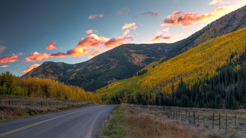 Driving Ashcroft Colorado Sunrise
