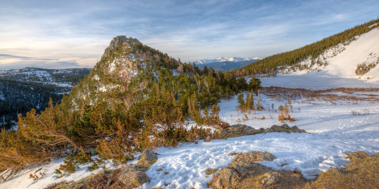 Hiking Saint Mary's Glacier Frozen Lake Colorado