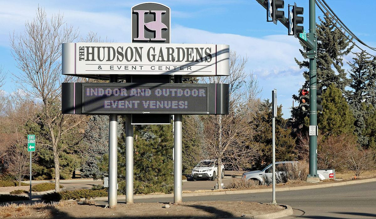 Hudson Gardens and Event Center Littleton Sign
