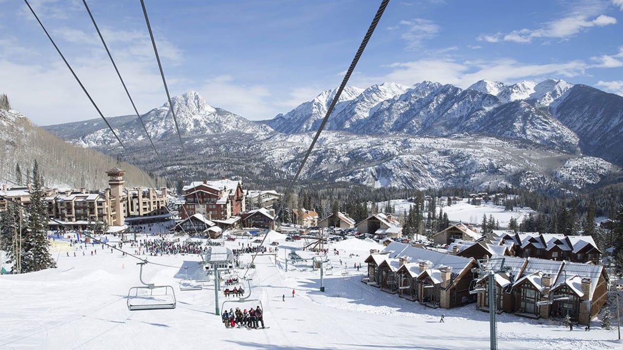 Purgatory Ski Resort Base Aerial View