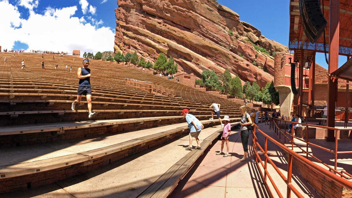 Red Rocks Amphitheatre Summer Day Joggers Morrison Colorado