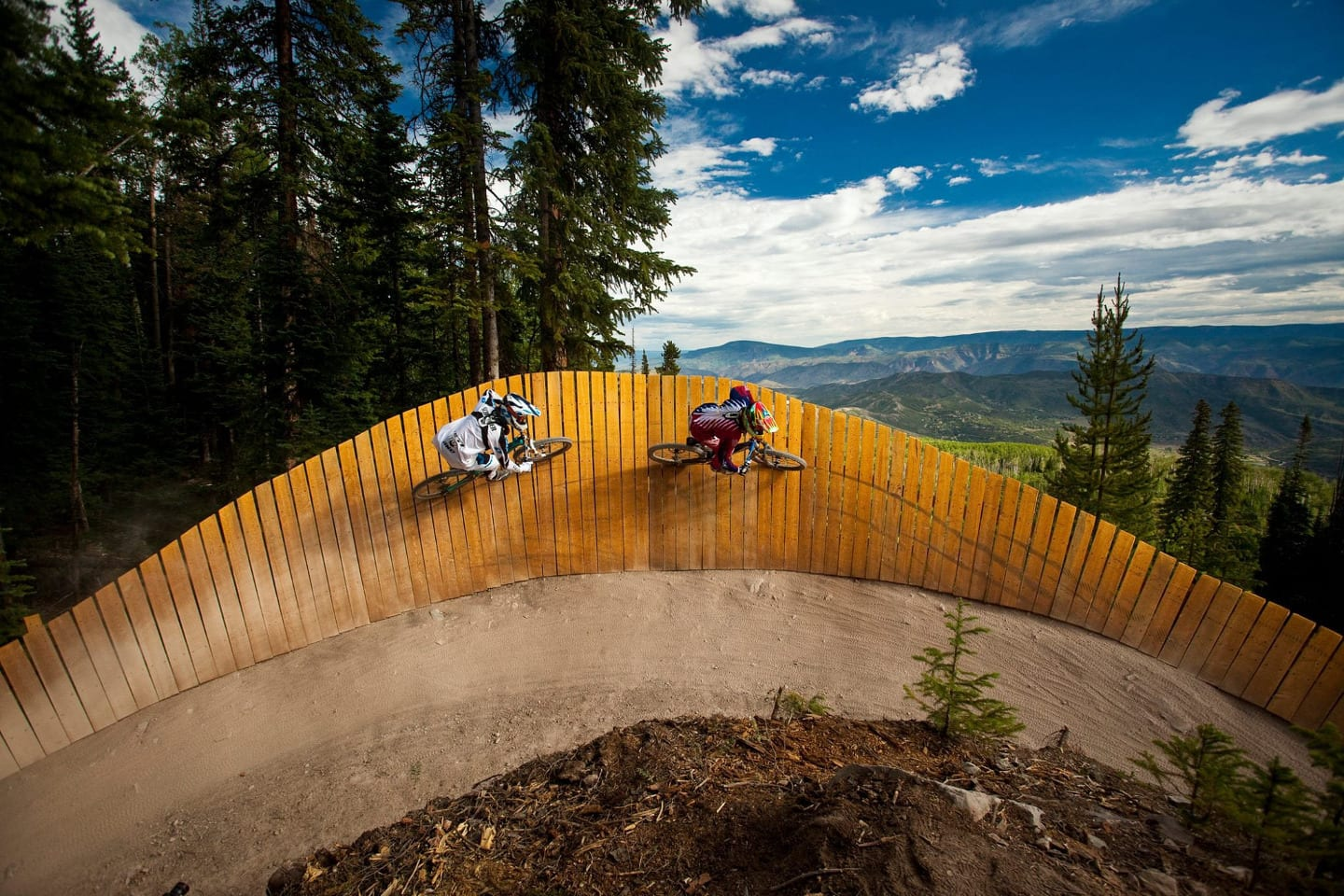 Snowmass Bike Park Fence Wall