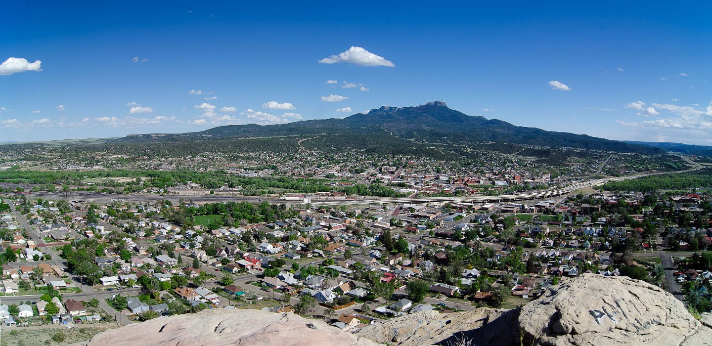 Trinidad Colorado Aerial View