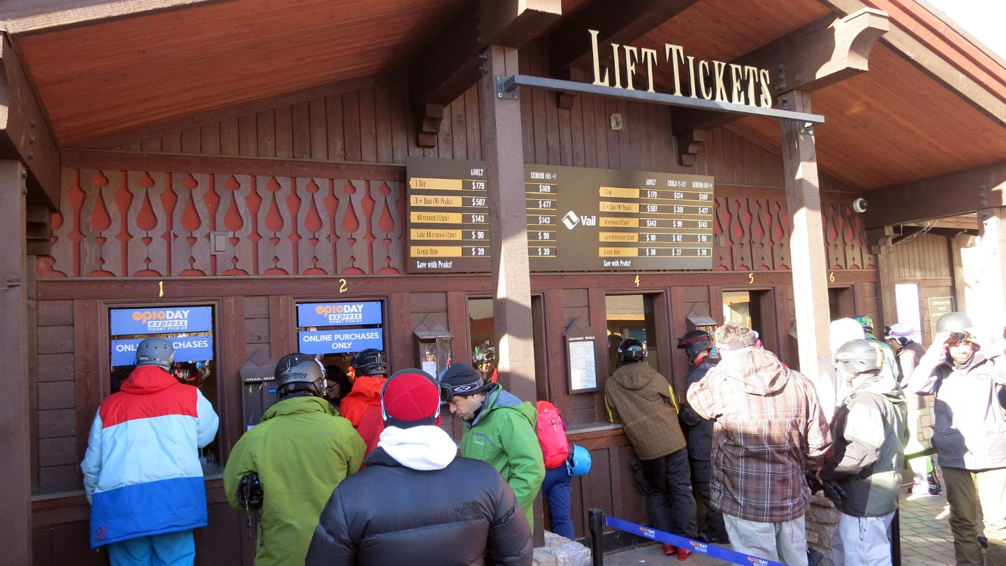 Vail Ski Resort Lift Tickets Office Line