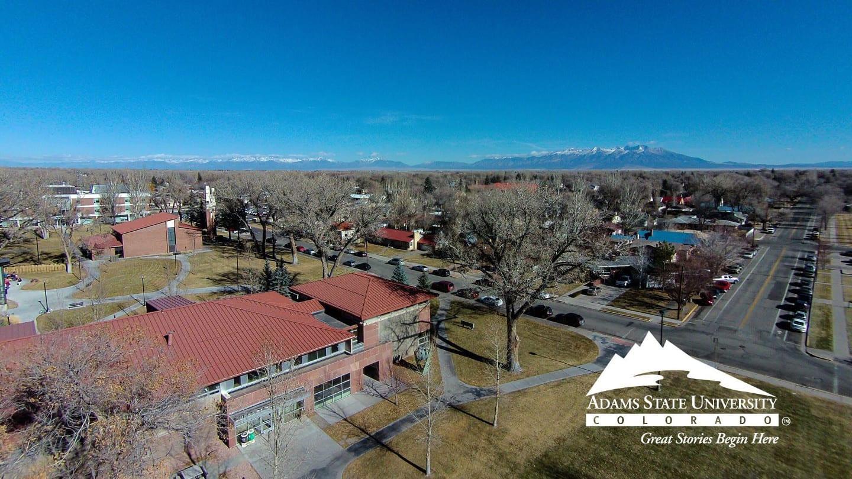 Adams State University Alamosa Aerial