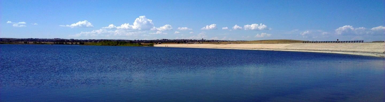 Aurora Reservoir Dam Colorado Panorama