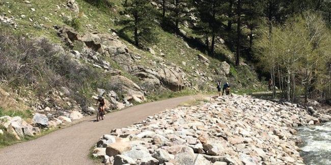 Boulder Canyon Trail Biking Hiking Colorado