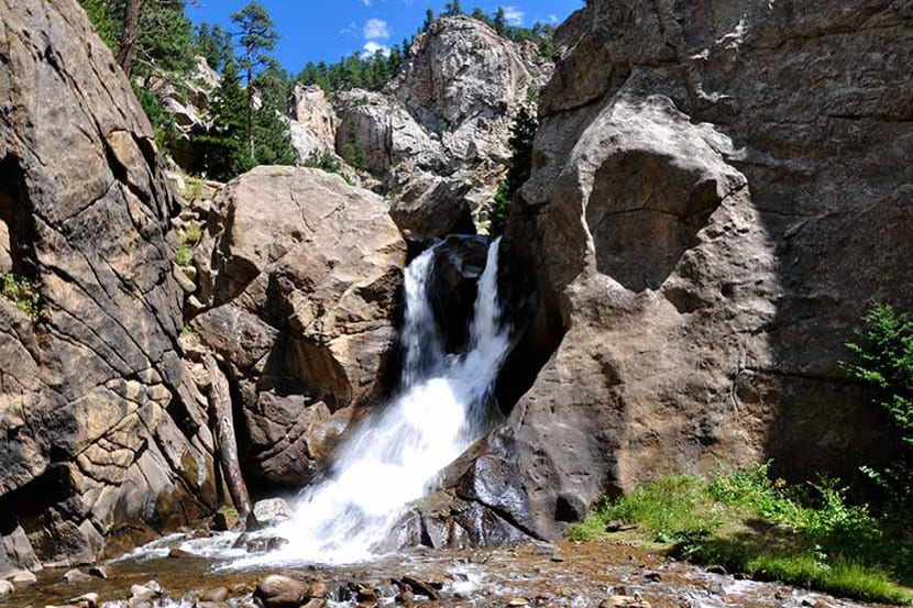 Boulder Falls Hike Waterfall Colorado