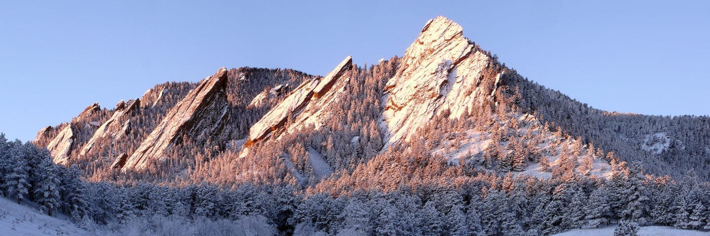 Boulder Hike Flatirons Winter Sunrise