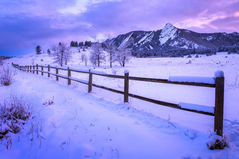 Chautauqua Park Winter Flat Iron Mountains Boulder