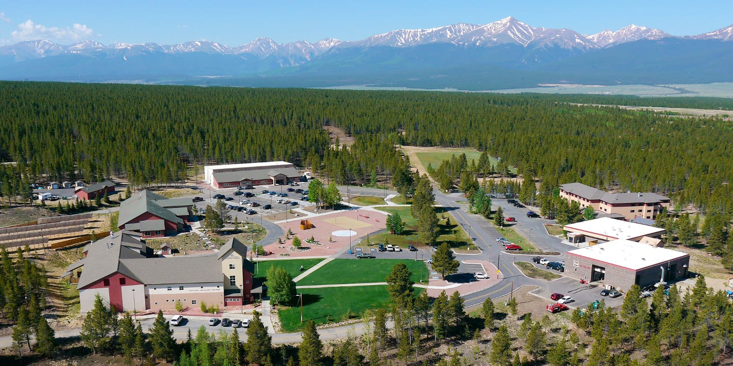 Colorado Mountain College Leadville Campus Aerial View
