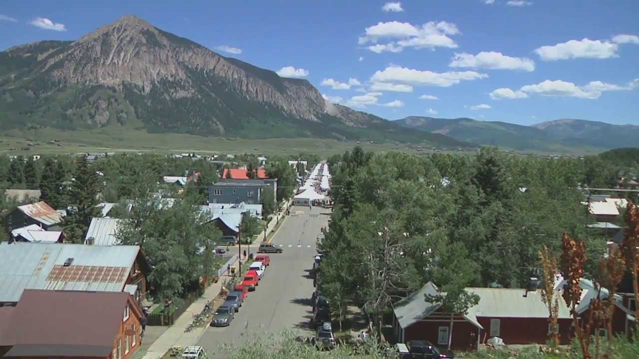 Crested Butte Arts Festival Aerial View Elk Avenue