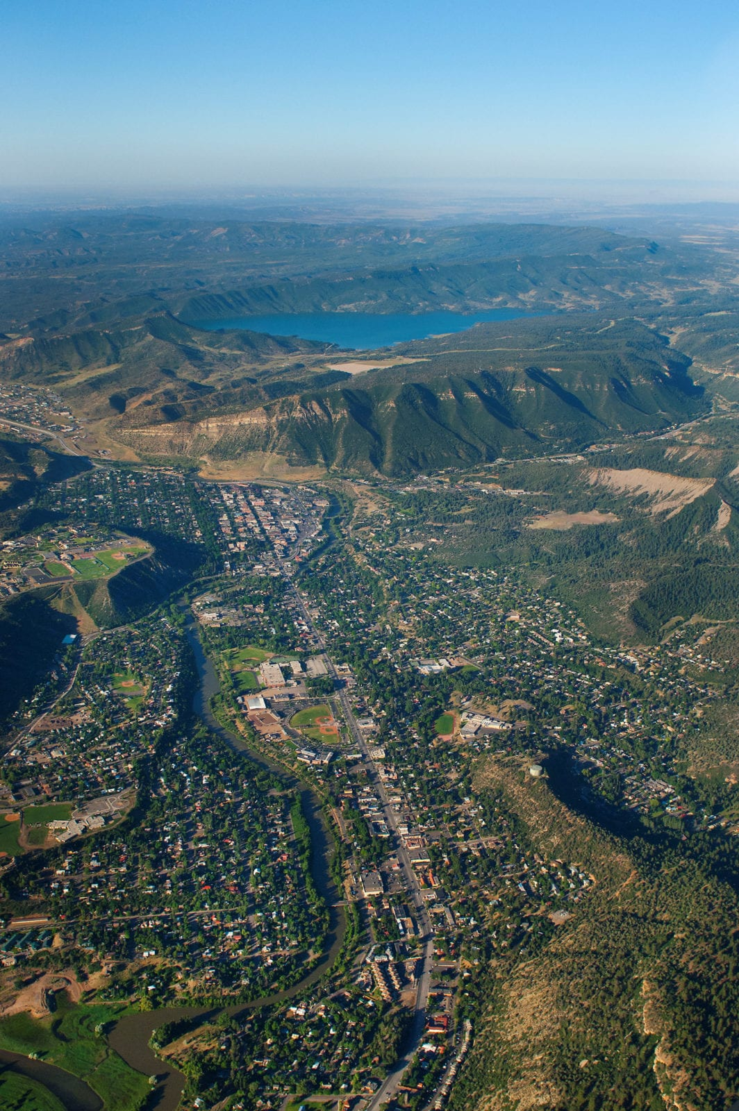Lake Nighthorse Durango Aerial View Dam Town