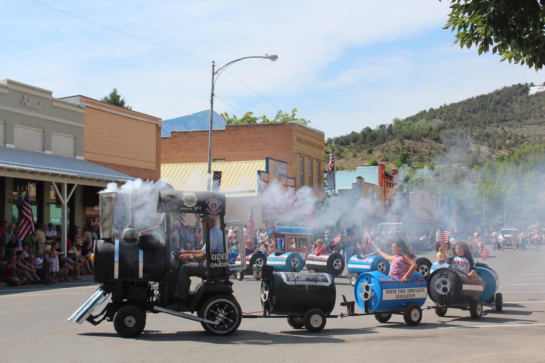 Paonia Cherry Days Parade Kids Train Ride
