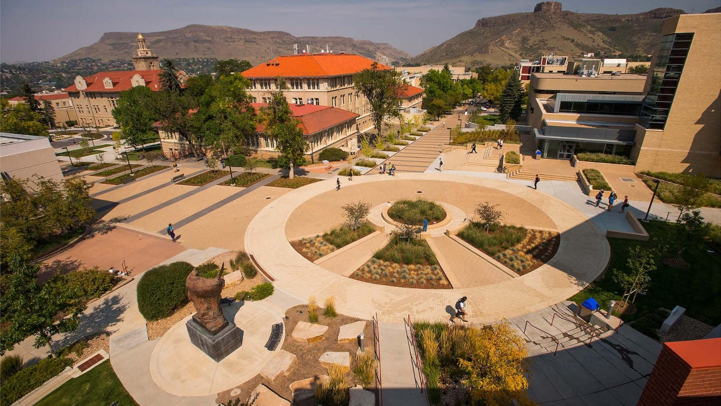 School of Mines Golden Campus Aerial