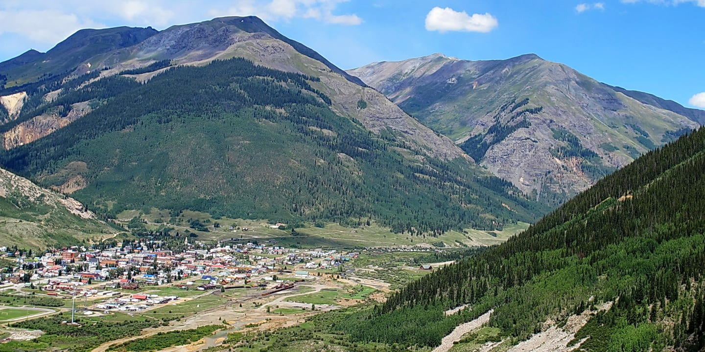 Silverton Colorado Aerial View from Molas Pass
