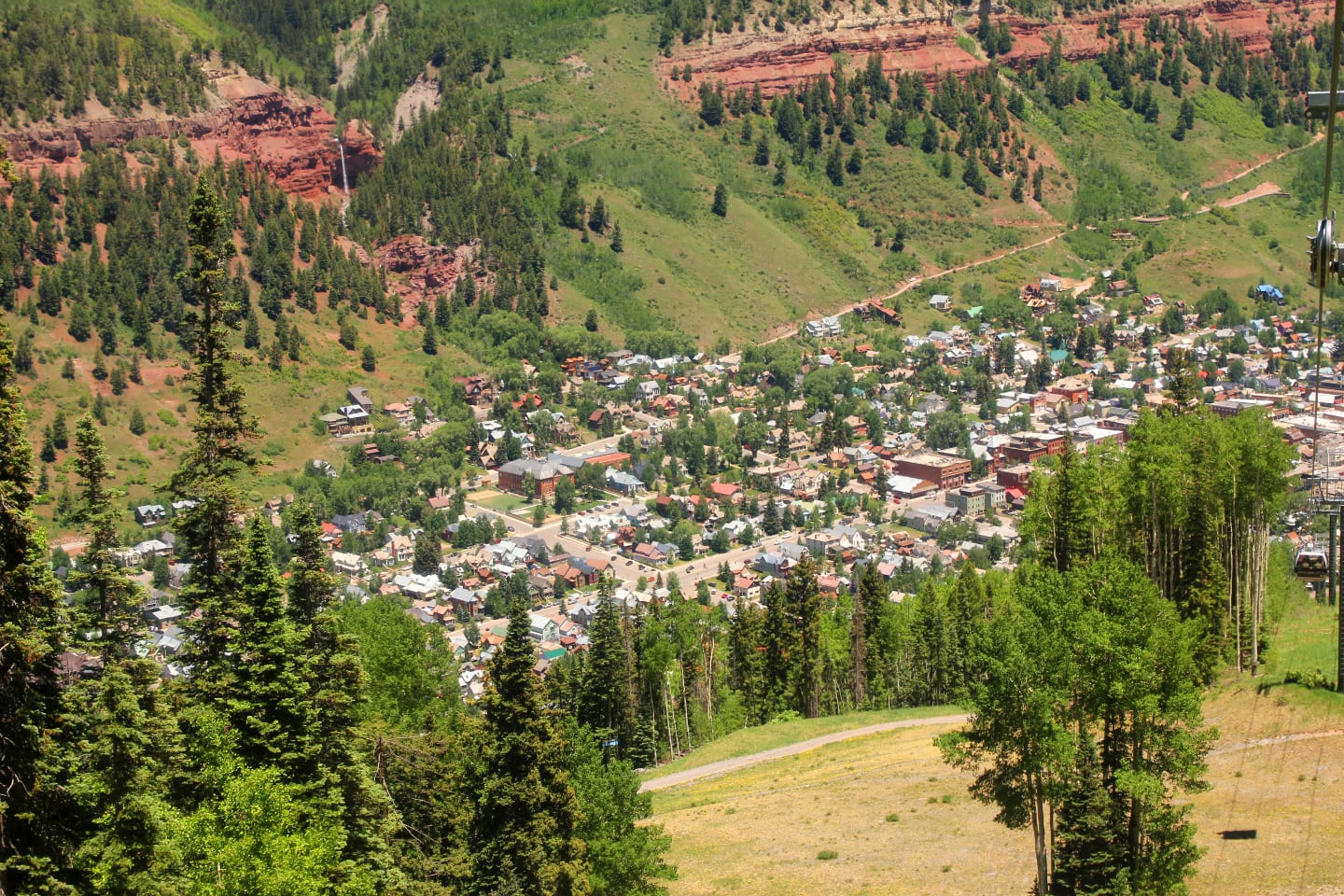 Telluride Colorado Gondola Aerial View Summer