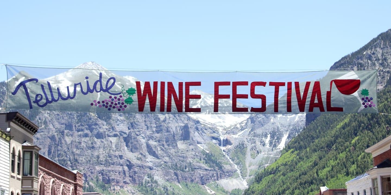 Telluride Wine Festival Street Sign