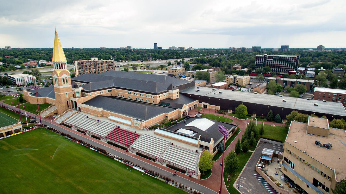 University of Denver Campus Aerial View