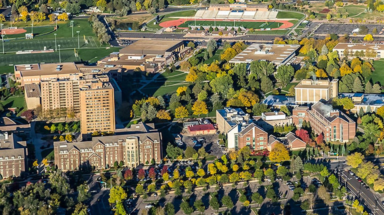 University of Northern Colorado Greeley Campus Aerial