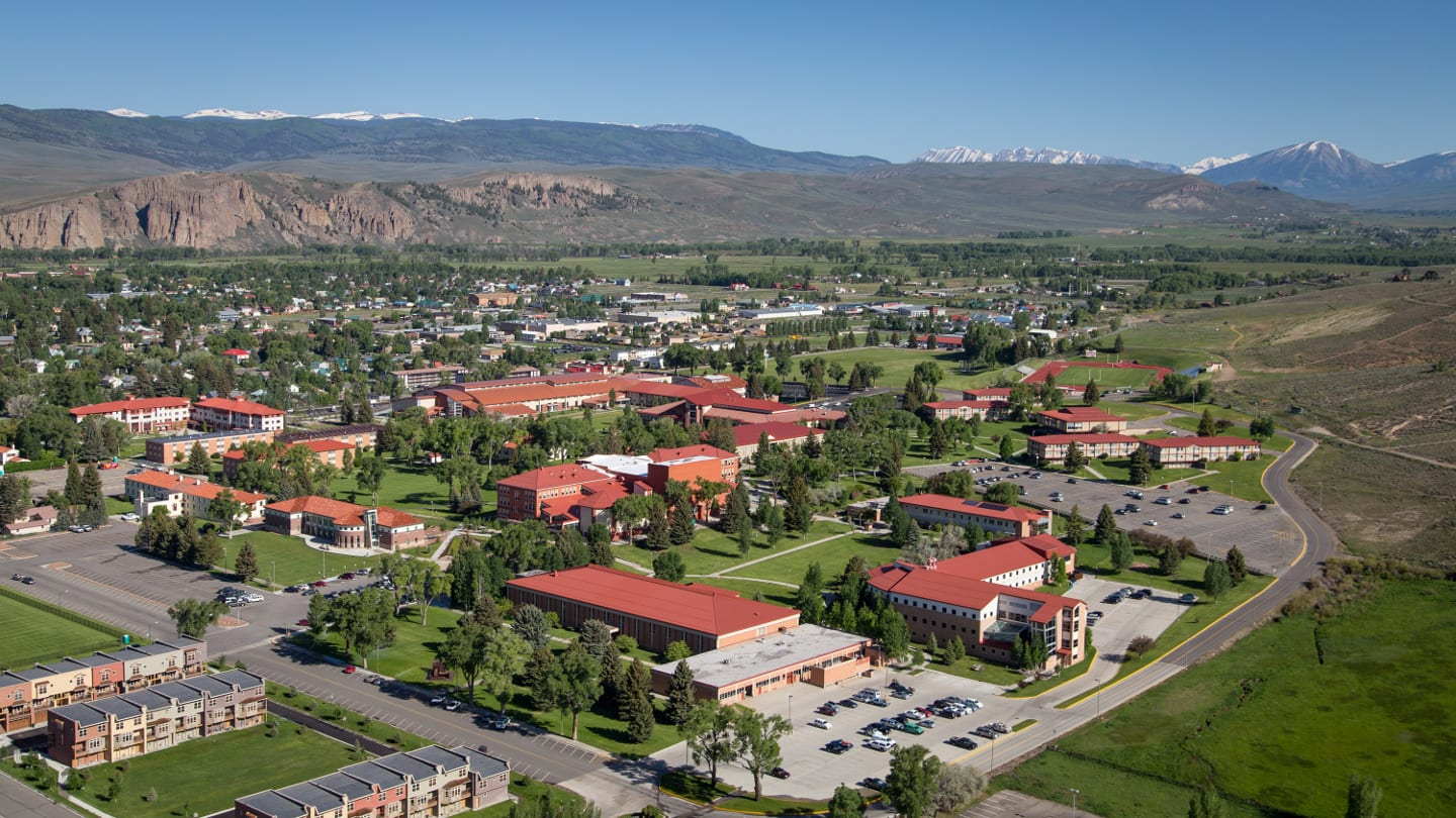 Western State Colorado University Campus Aerial View