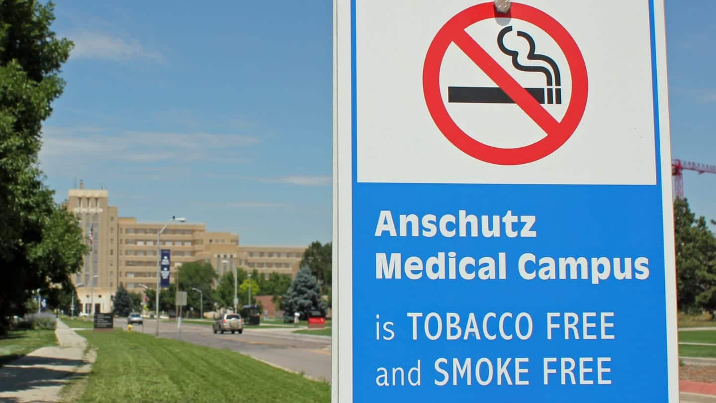 Anschutz Medical Campus No Smoking Sign