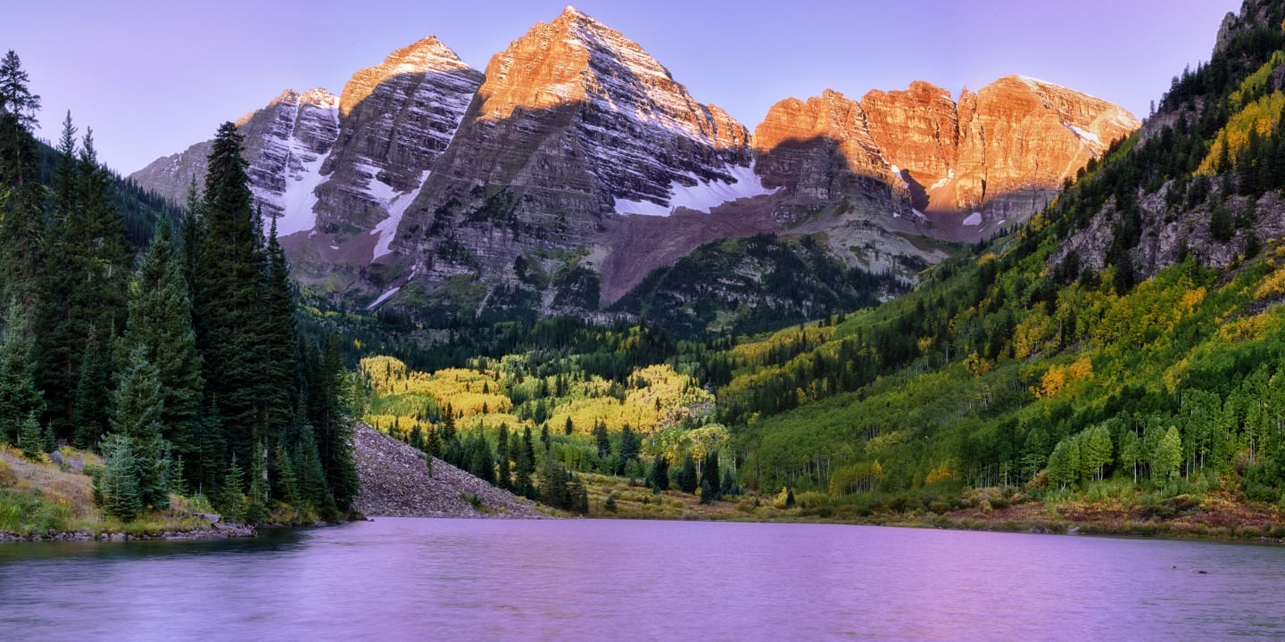 Maroon Bells Fall Sunrise Aspen