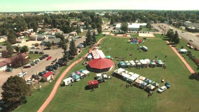 San Luis Valley Potato Festival Aerial View
