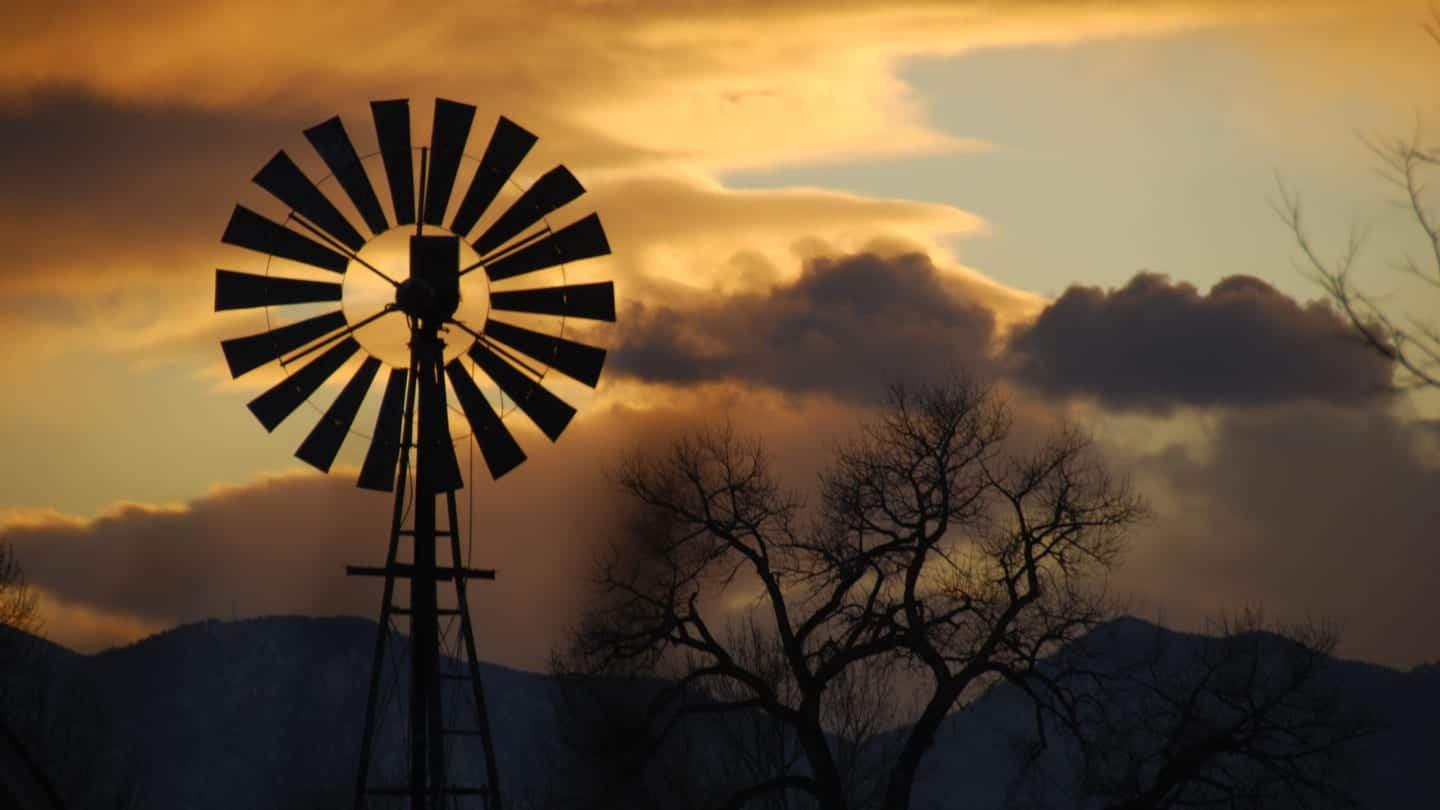Windmill Sunset Lafayette Colorado