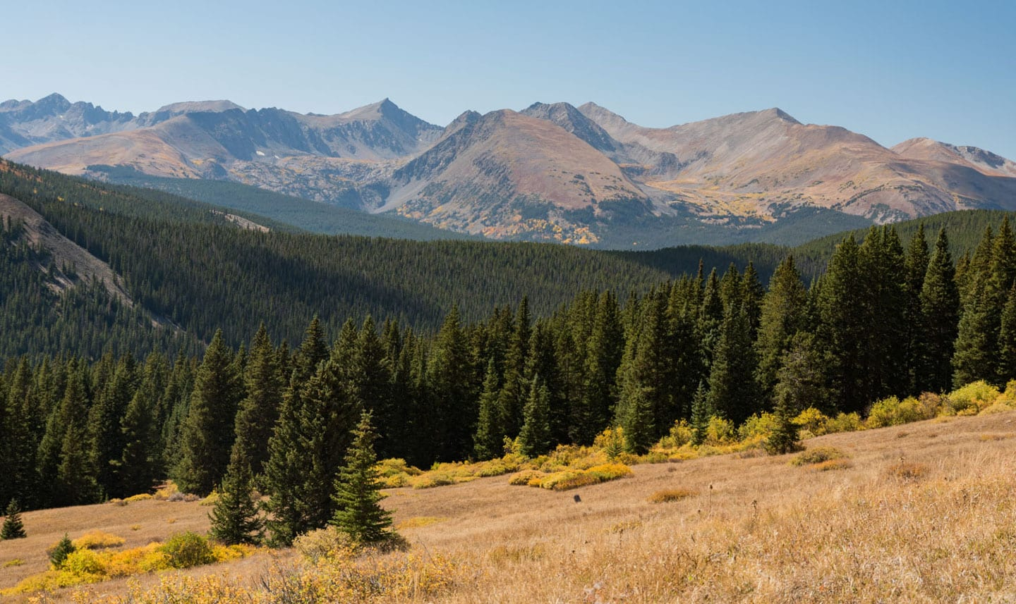 Fall Colors Boreas Pass Tenmile Mountain Range Views