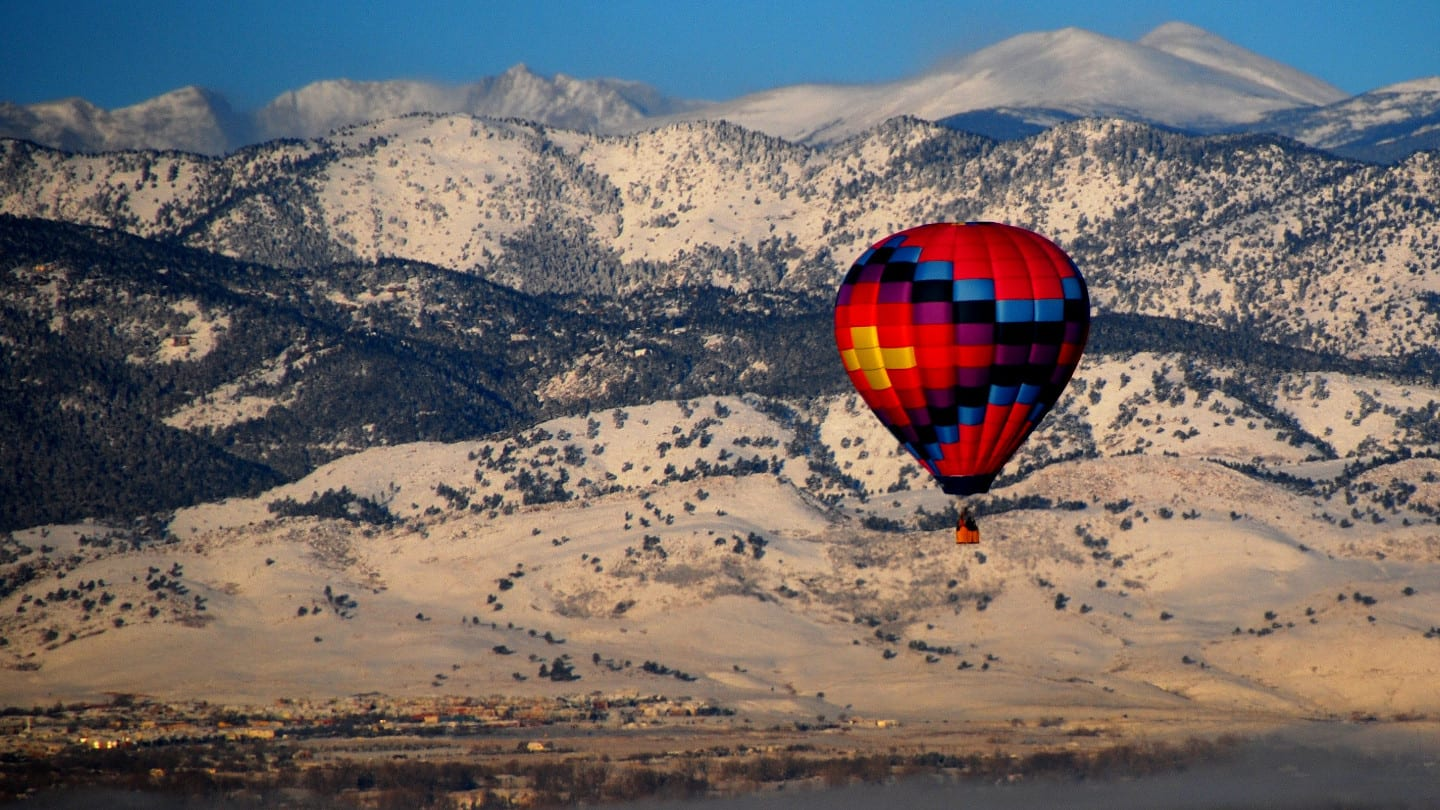 Colorado Hot Air Balloon Boulder County