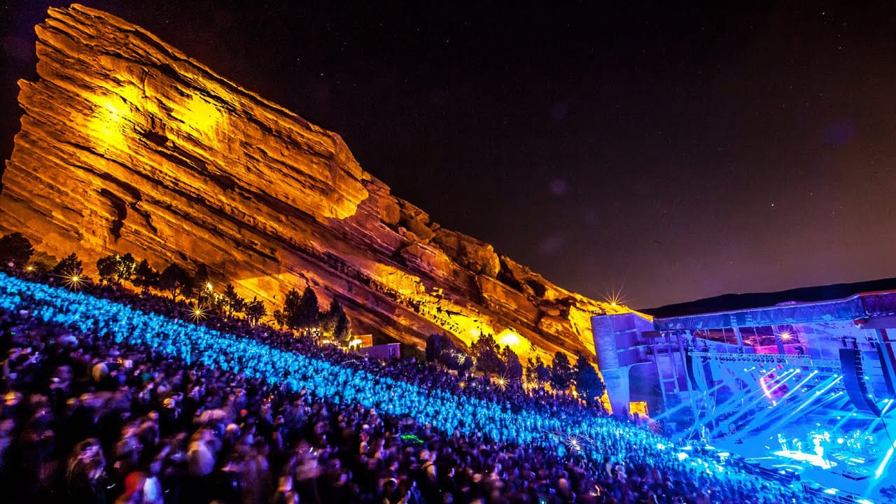Red Rocks Amphitheatre Concert Night Lights