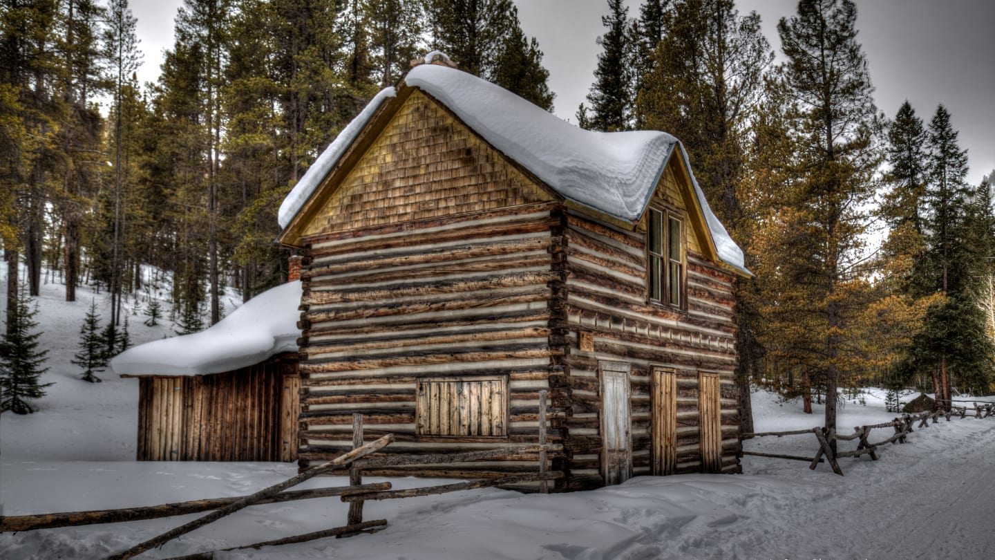 Saint Elmo Ghost Town Haunted Building Winter
