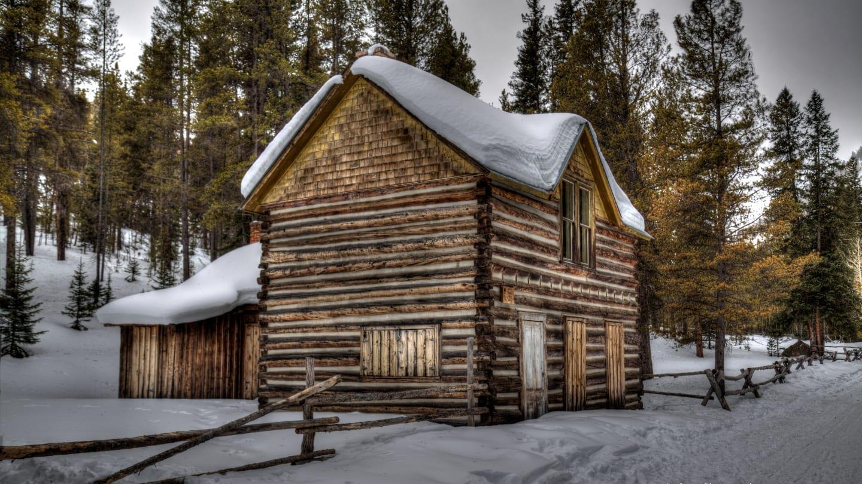 Saint Elmo Ghost Town Haunted Building Winter