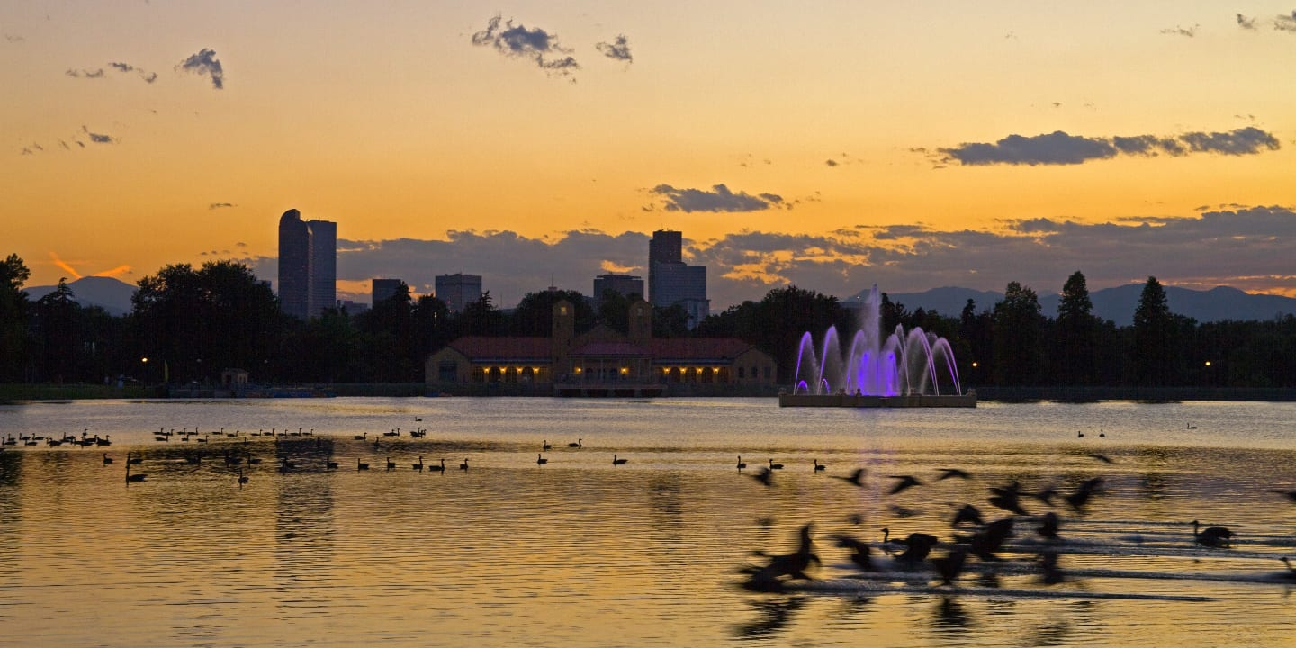 Colorado Vacations Trips City Park Sunset Geese