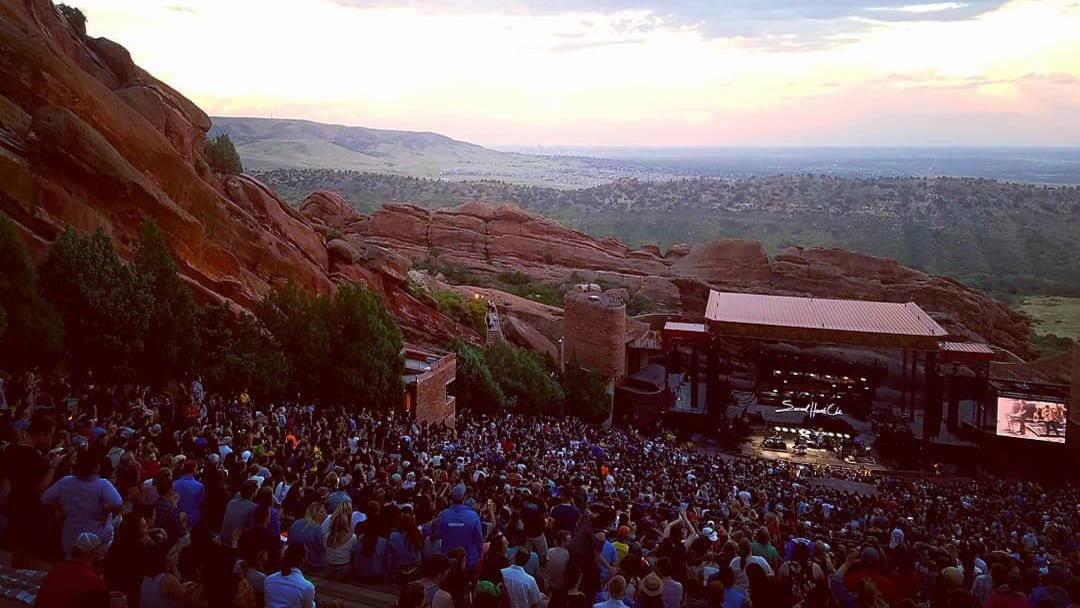 Red Rocks Concert Sunset Morrison