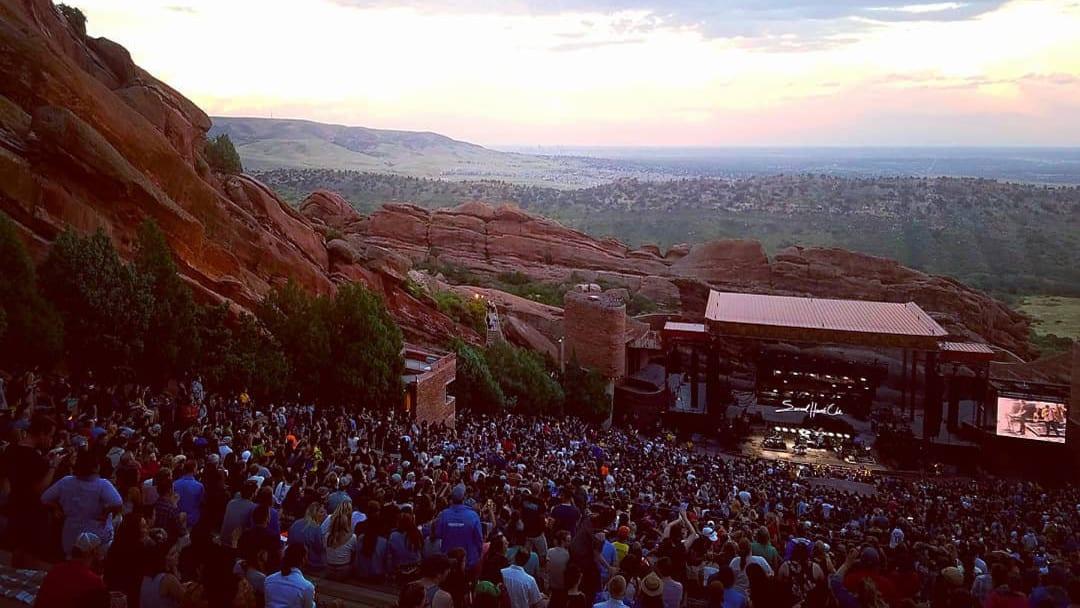 Red Rocks Concert Sunset Morrison