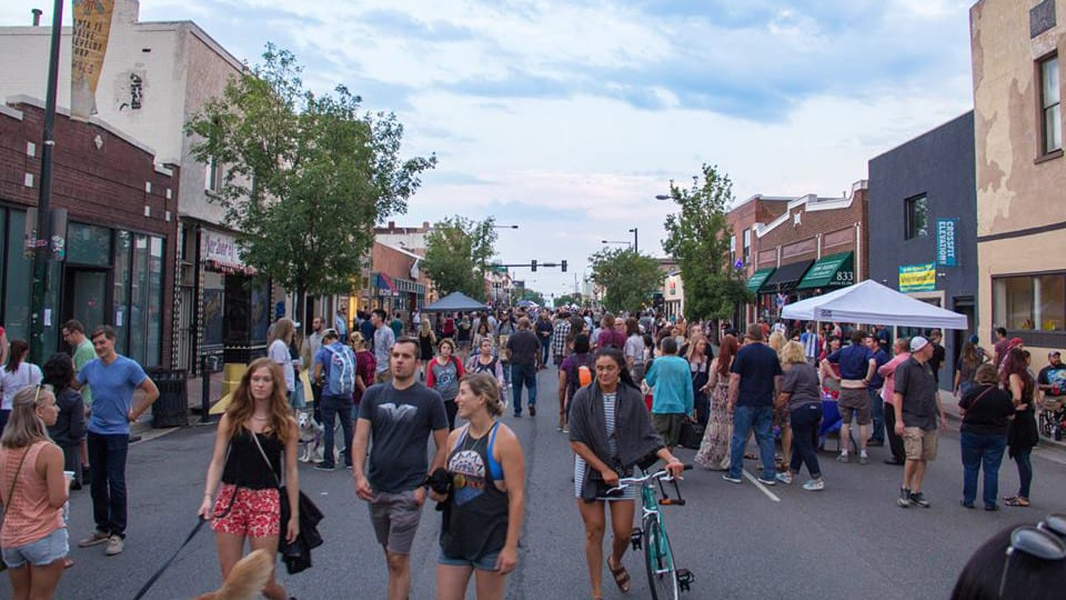 Santa Fe First Friday Art Walk Denver Colorado