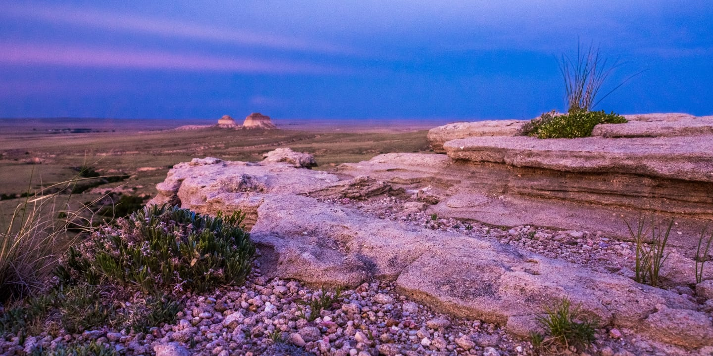Pawnee Buttes Twilight Eastern Colorado